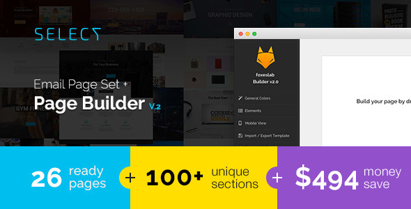 Select – Email Templates Set with FoxesBuilder v.2