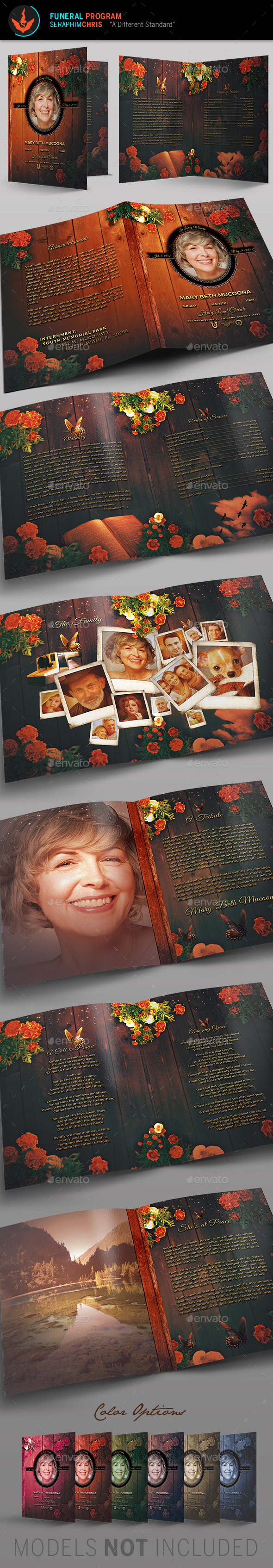Mothers Funeral Program Template - Informational Brochures