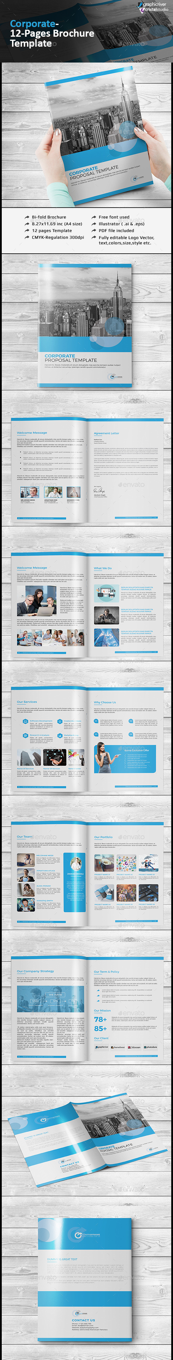 Minimalist Corporate Catalog/Brochure - Brochures Print Templates