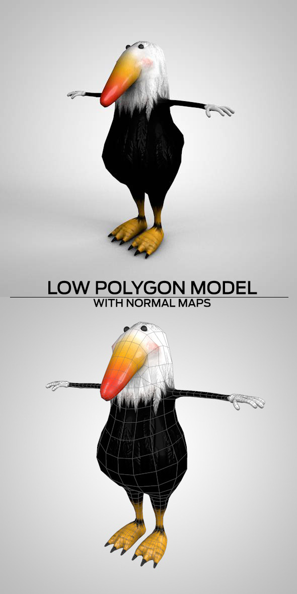 Mascot Birds - 3DOcean Item for Sale