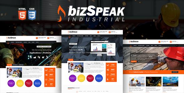BizSpeak – Responsive Industrial Html5 Template