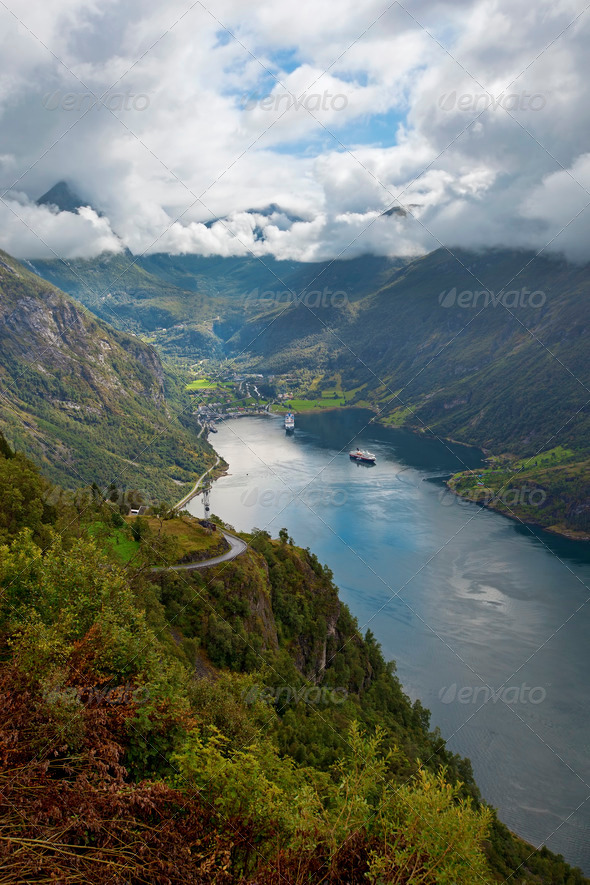 View of Geiranger - Stock Photo - Images
