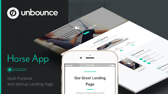 Horse App – Unbounce Landing Page