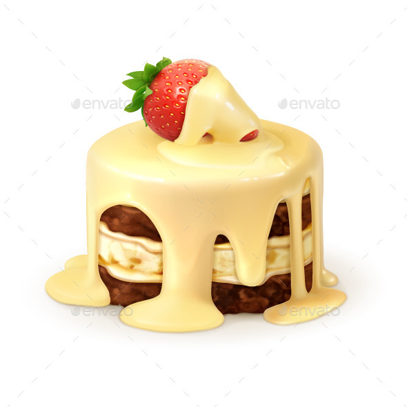 Cake in White Chocolate - Vectors
