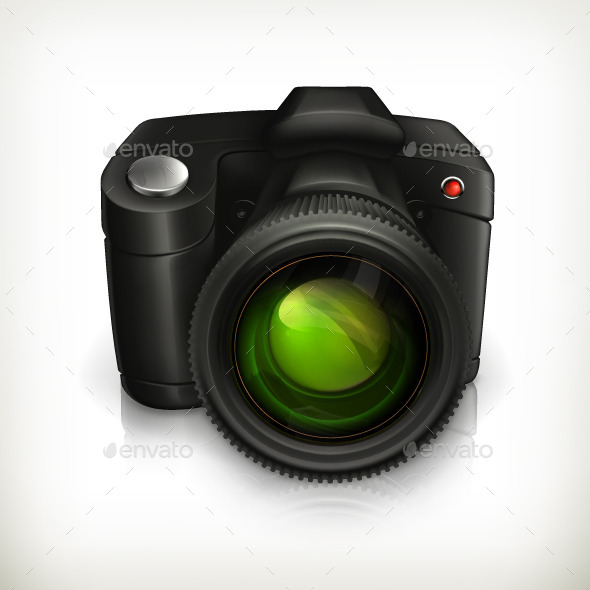 Digital Camera Icon - Man-made Objects Objects