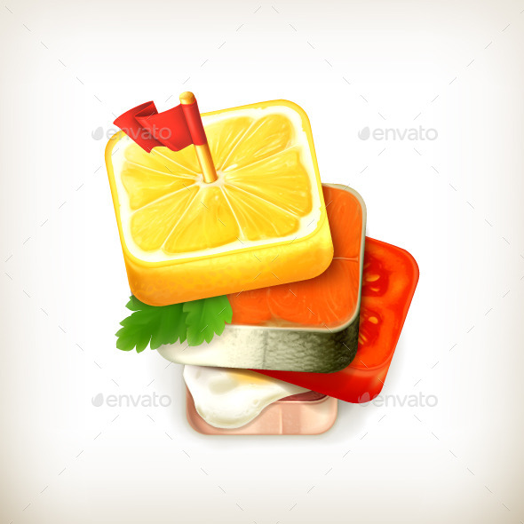 Canape Vector Icon - Food Objects