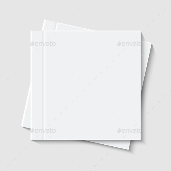 Vector Modern White Book Or Brochure - Backgrounds Decorative