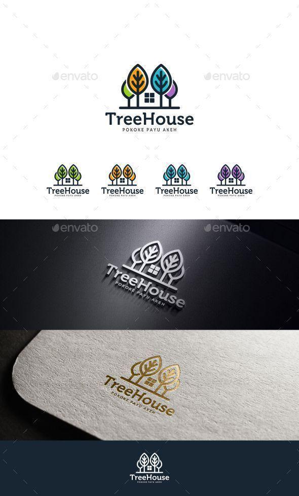 Tree House  - Buildings Logo Templates