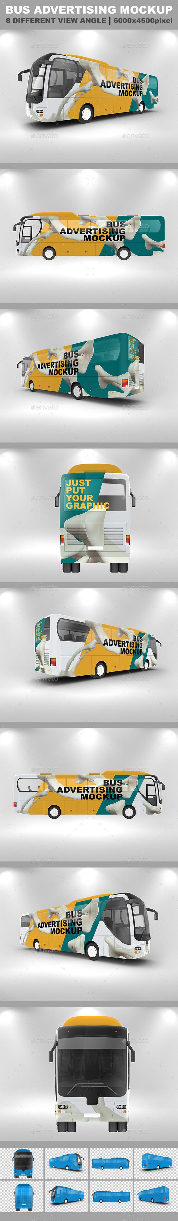 Bus Advertising Mockup - Vehicle Wraps Print