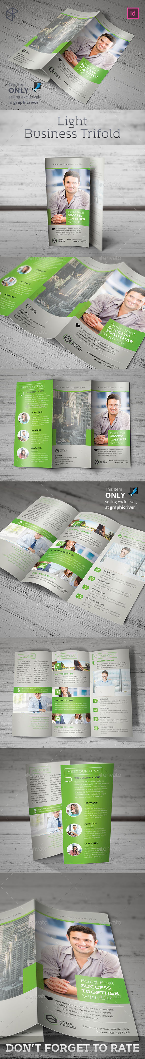 Light Business Trifold - Corporate Brochures