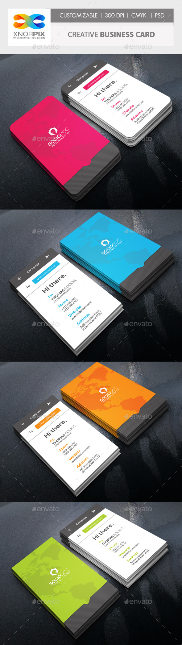 Message Business Card