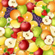 Seamless Pattern with Fresh Fruits. - GraphicRiver Item for Sale