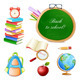 School Elements Isolated on White. - GraphicRiver Item for Sale