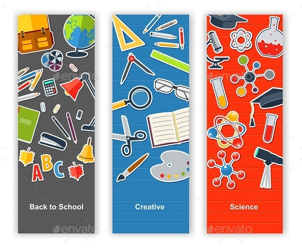 Back To School Set Of Banners. - Business Conceptual