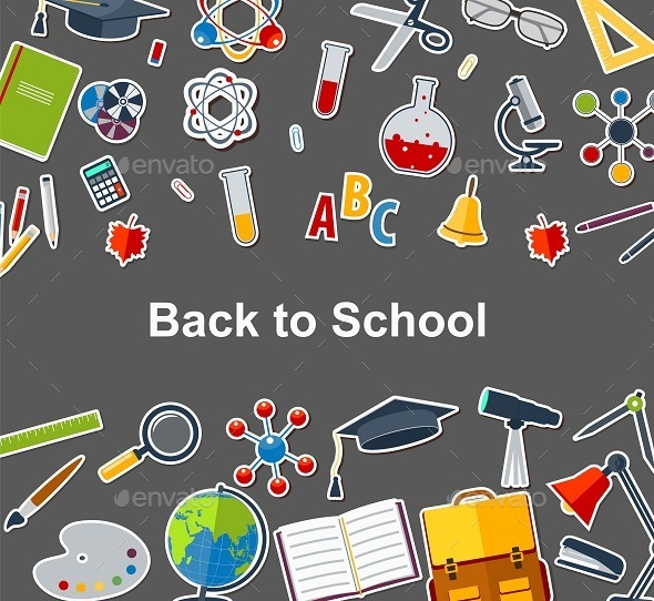 Background Back To School - Backgrounds Decorative