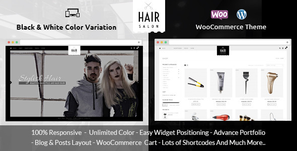 Hair Salon – WooCommerce Responsive Theme