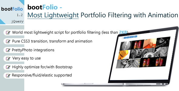 bootFolio - Most Lightweight Portfolio Filtering - CodeCanyon Item for Sale