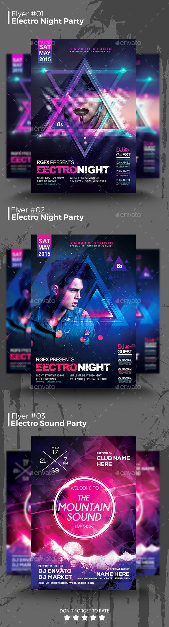 Electro Night Flyer Bundle