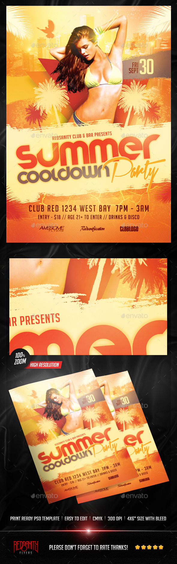 Summer Cooldown Party Flyer - Clubs & Parties Events