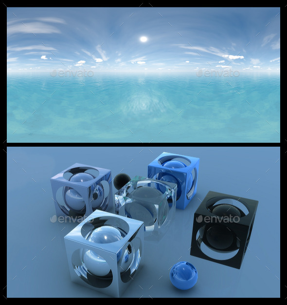Ocean Blue Clouds 4 - HDRI - 3DOcean Item for Sale