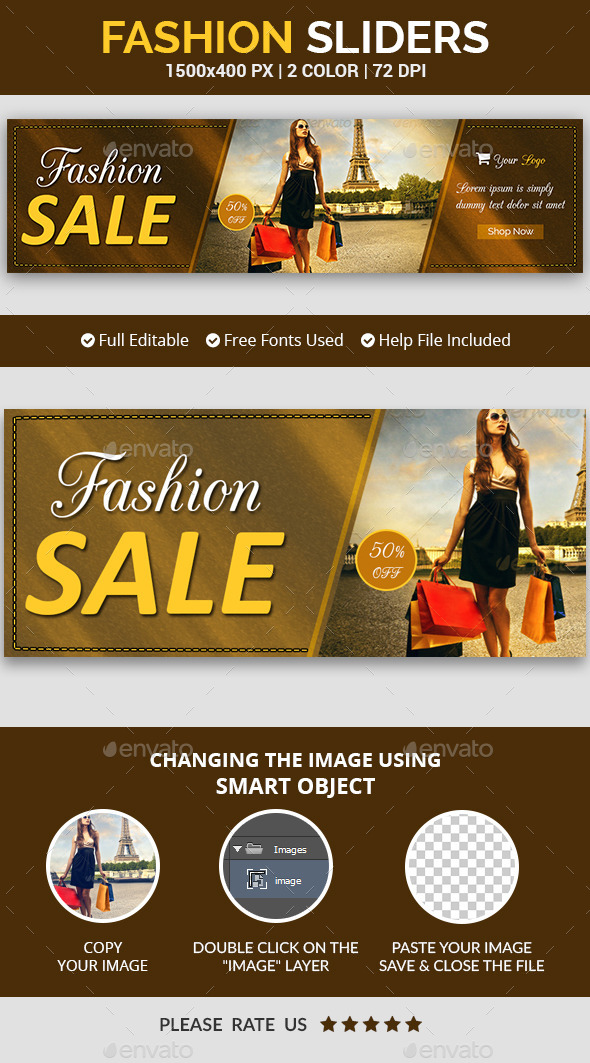 Fashion Slider v7 - Sliders & Features Web Elements