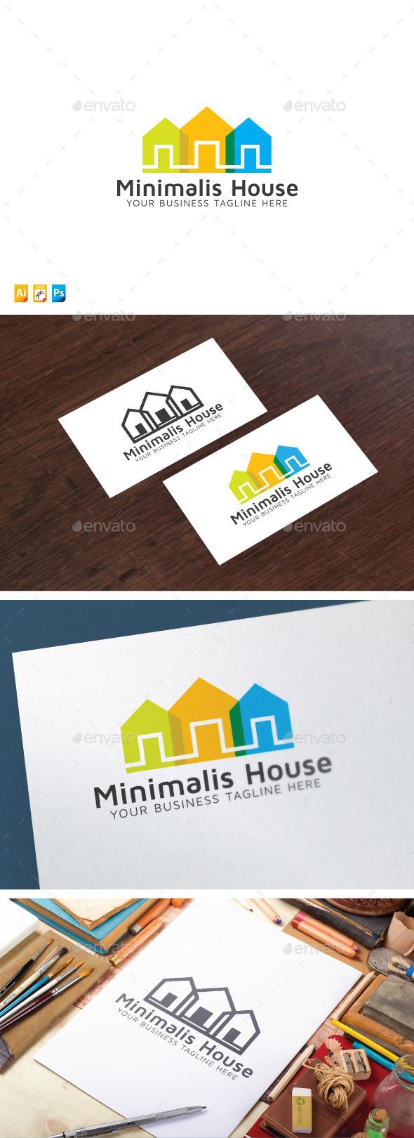 Minimalis House - Buildings Logo Templates
