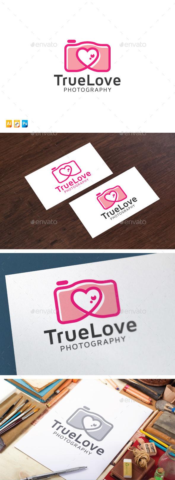 Love Photography Logo - Objects Logo Templates