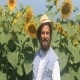 A Farmer Smiles At Sunflowers  - VideoHive Item for Sale