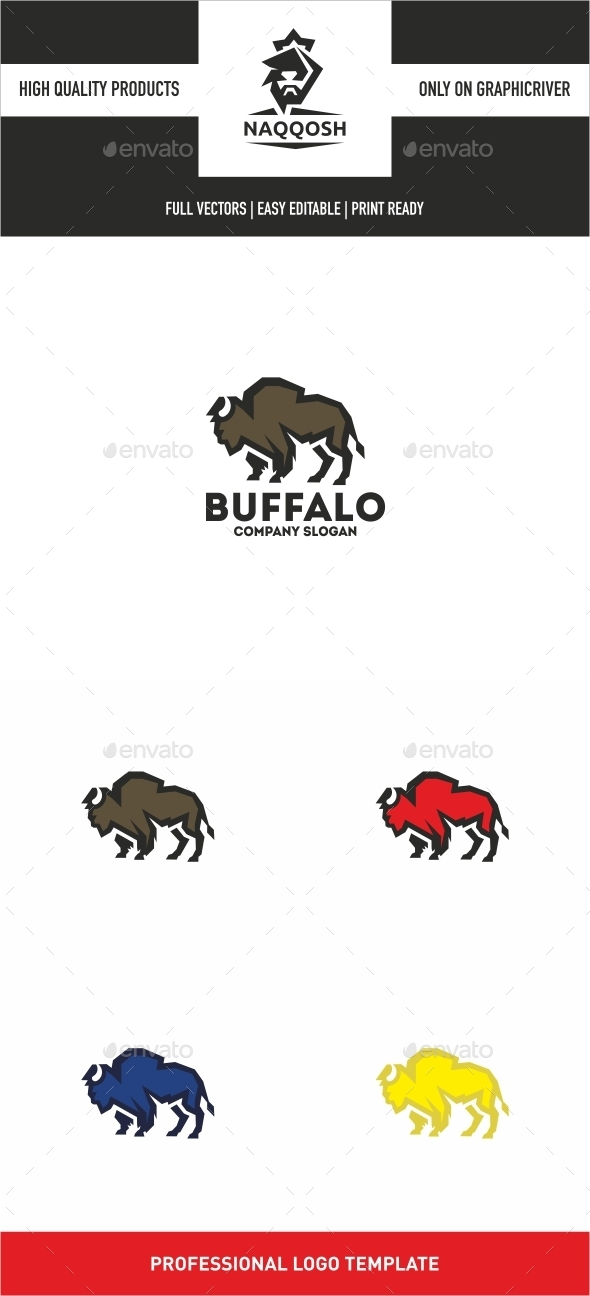 Buffalo - Animals Logo Templates