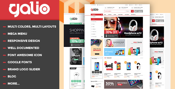 Galio – Mega Shop Responsive HTML Template