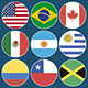 Flag Icons American Countries - VideoHive Item for Sale