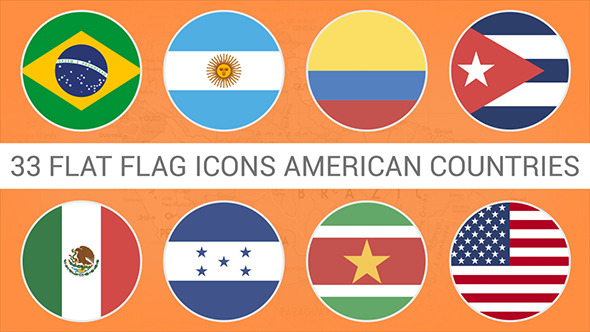 Flag Icons American Countries