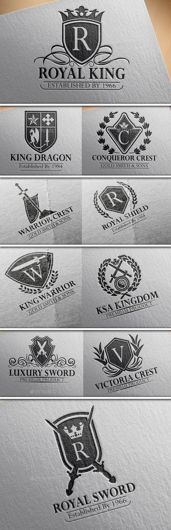 Heraldic Crest Logos Vol 15