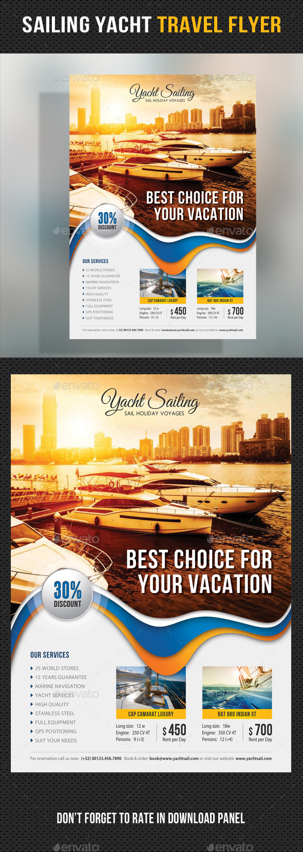 Sailing Yacht Travel Flyer 08