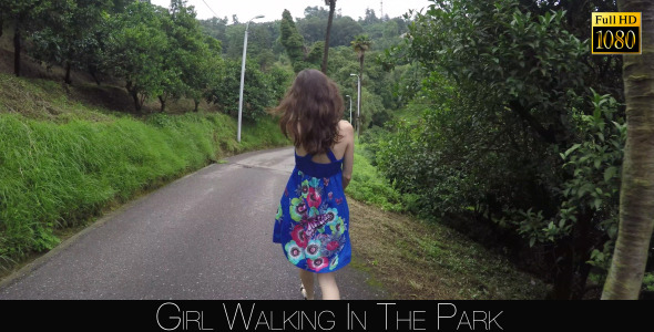 Girl Walking In The Park 3