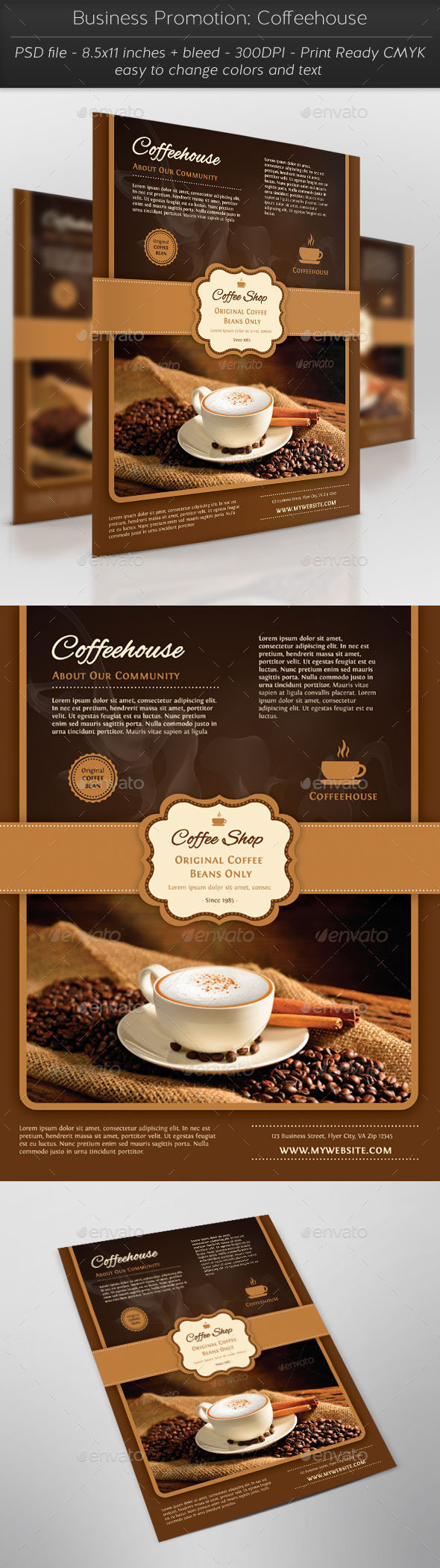 Business Promotion: Coffeehouse - Restaurant Flyers