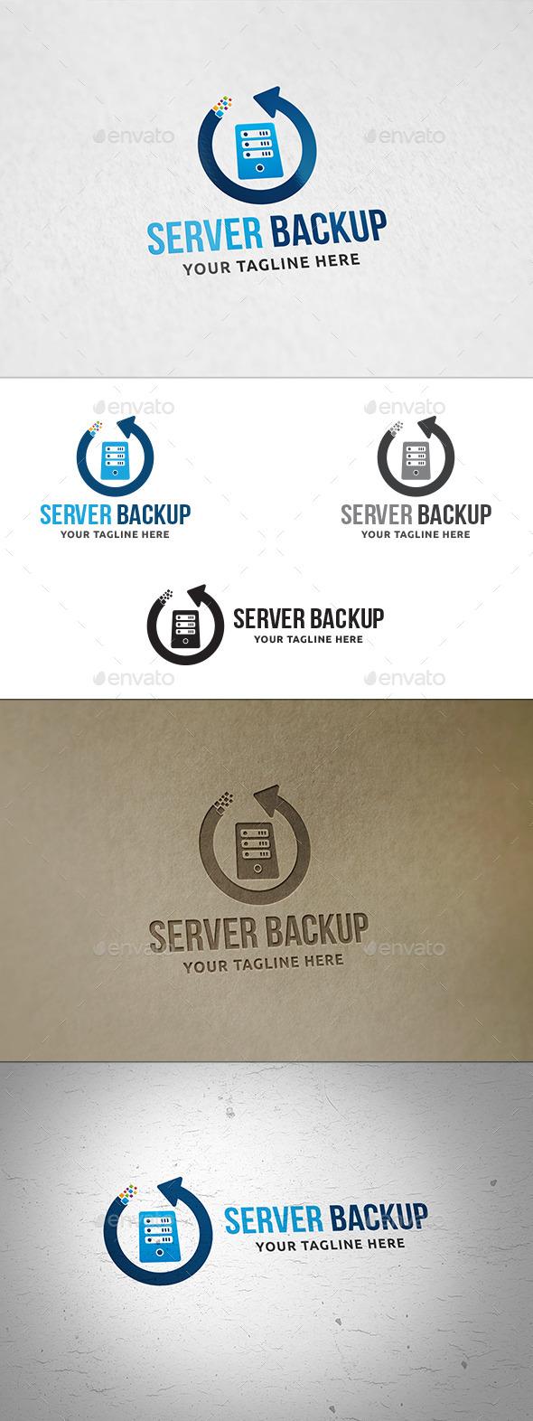 Server Backup Logo - Symbols Logo Templates