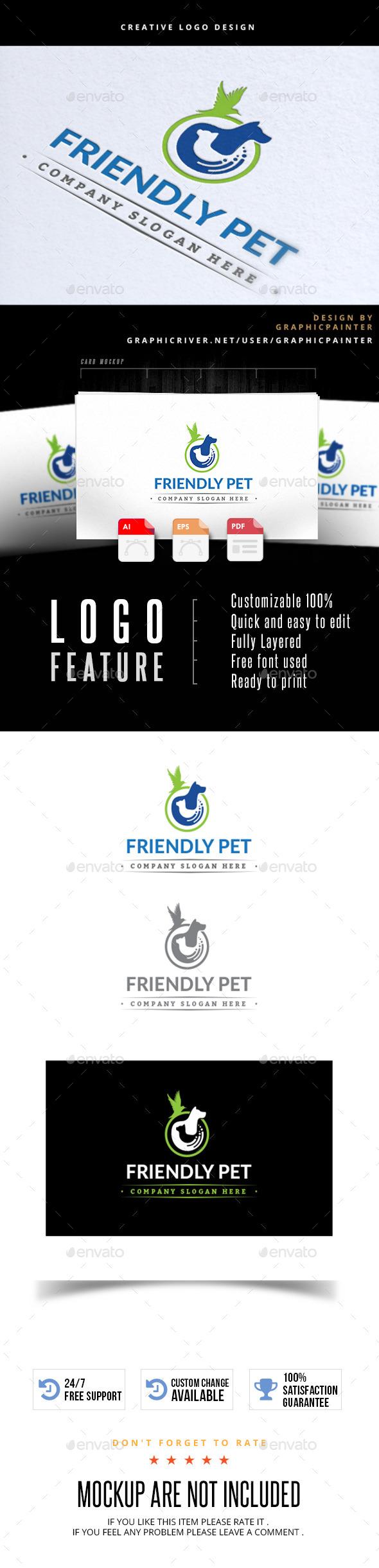 Friendly Pet - Animals Logo Templates