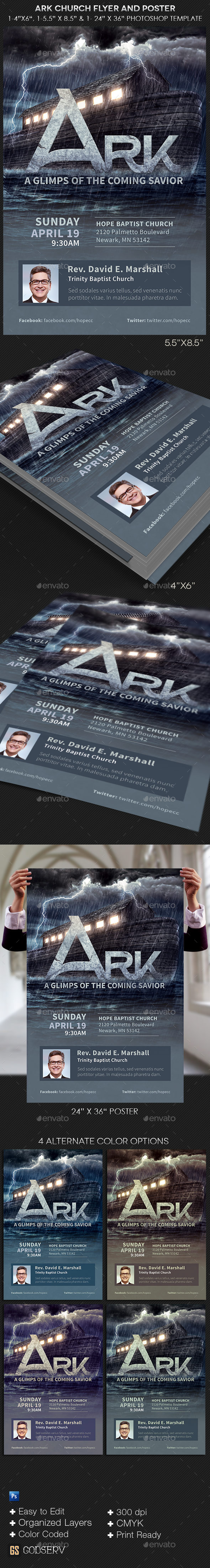 Ark Church Flyer Poster Template