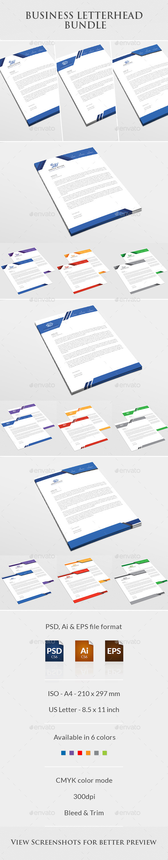 Business Letterhead Bundle - Stationery Print Templates