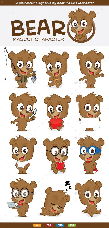 Bear Mascot Character - Animals Characters