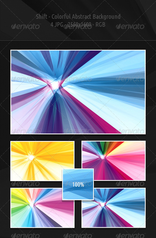 Shift - Colorful Abstract Backgrounds - Abstract Backgrounds