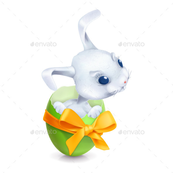 Easter Rabbit Illustration - Vectors