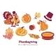 Ten Thanksgiving Design Elements. Turkey Pumpkin - GraphicRiver Item for Sale