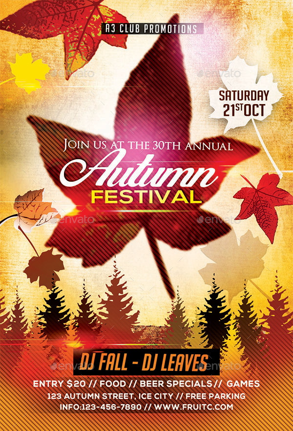 Autumn/ Fall Flyer + Facebook Cover by Arrow3000 | GraphicRiver
