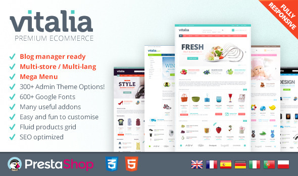 Vitalia for PrestaShop - Fresh, responsive theme