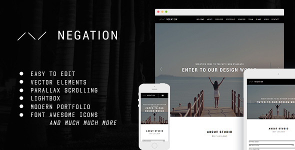 Negation – Multipurpose Modern Muse Template