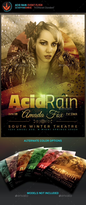 Acid Rain Event Template - Flyers Print Templates