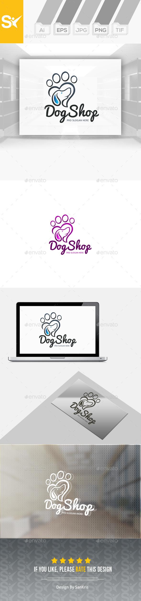 Dog Shop Logo - Animals Logo Templates