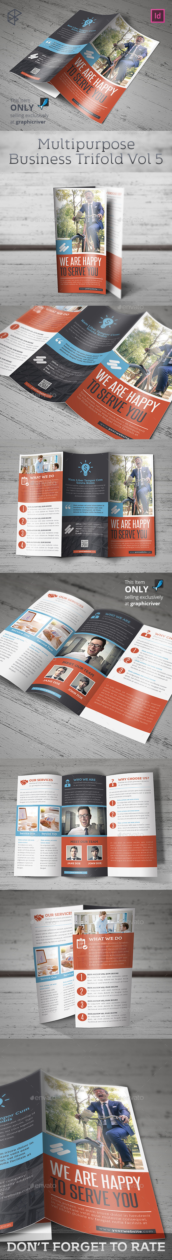 Multipurpose Business Trifold Vol 5 - Corporate Brochures